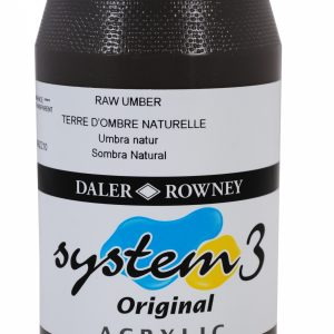 System 3 Original Acrylic Colour 500ml Raw Umber