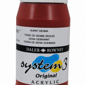 System 3 Original Acrylic Colour 500ml Burnt Sienna
