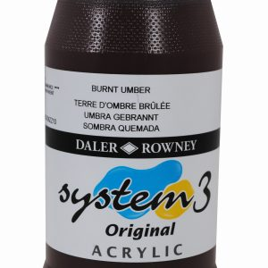 System 3 Original Acrylic Colour 500ml Burnt Umber