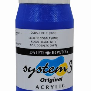 System 3 Original Acrylic Colour 500ml Cobalt Blue Hue