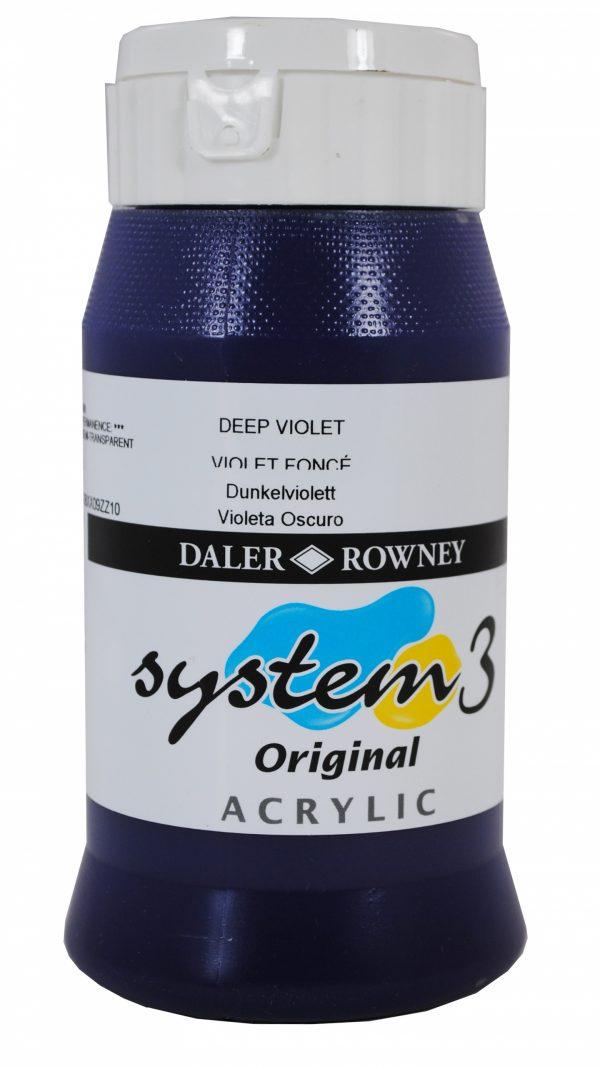 System 3 Original Acrylic Colour 500ml Deep Violet