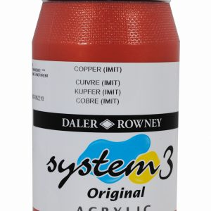 System 3 Original Acrylic Colour 500ml Copper Imit