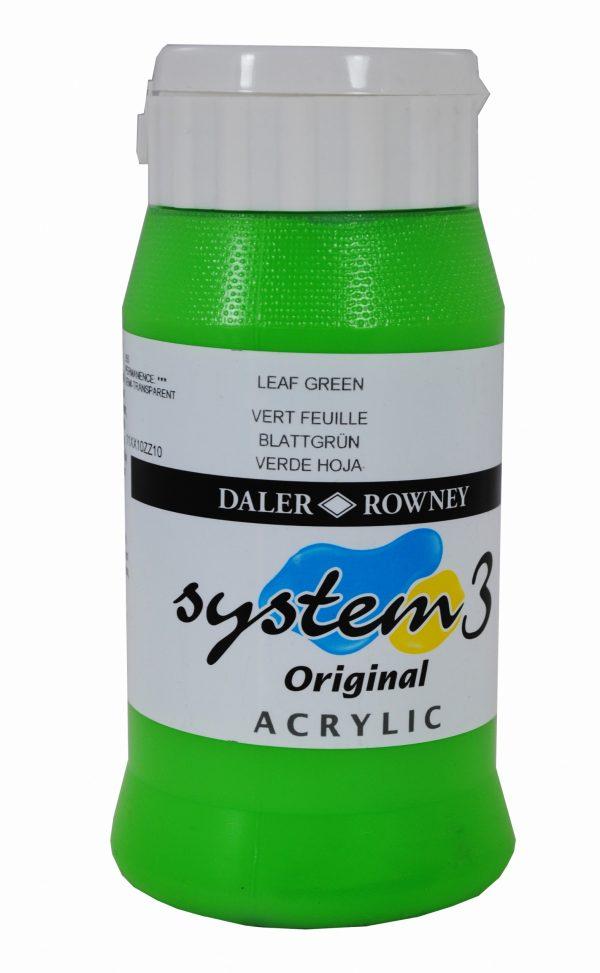 System 3 Original Acrylic Colour 500ml Leaf Green
