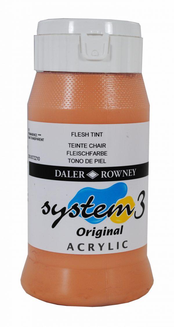 System 3 Original Acrylic Colour 500ml Flesh Tint