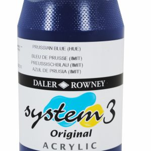 System 3 Original Acrylic Colour 500ml Prussian Blue Hue