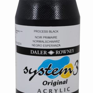 System 3 Original Acrylic Colour 500ml Process Black