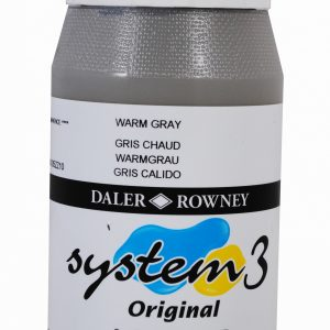 System 3 Original Acrylic Colour 500ml Warm Grey