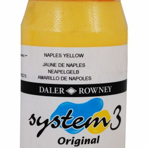 System 3 Original Acrylic Colour 500ml Naples Yellow